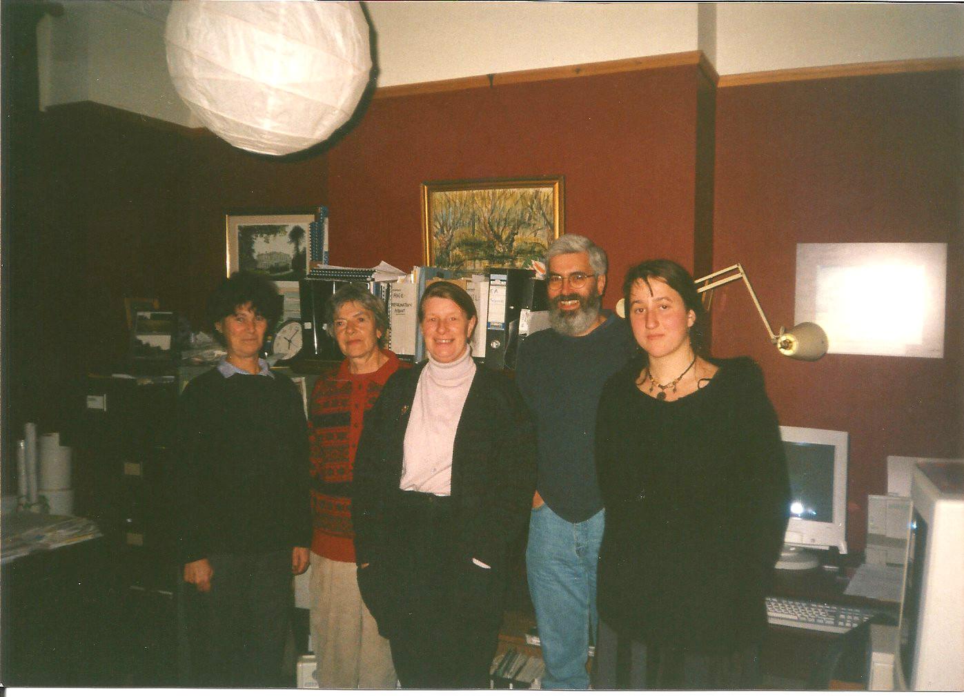 NIS Ofice Southampton (L-R) Di McDonald, Evelyn Parker, Rita Leighton, Duncan Barnett and Tania Zeigler