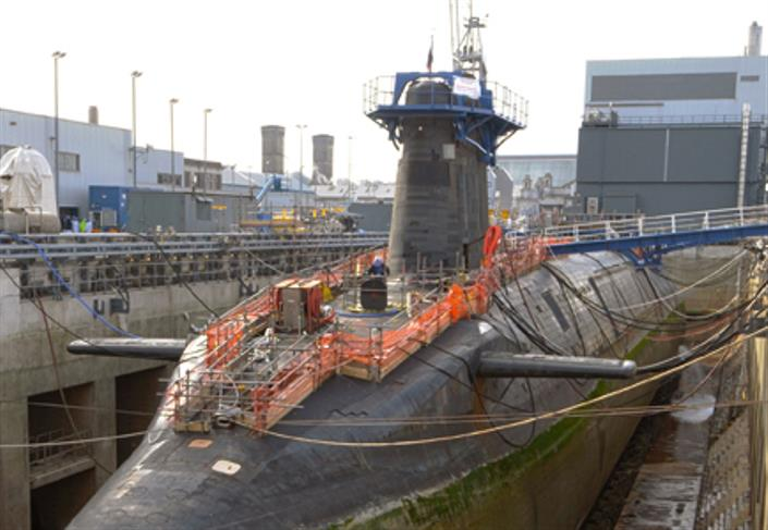 HMS Vengeance in dry dock at Devonport credit: Institute of Mechanical Engineers