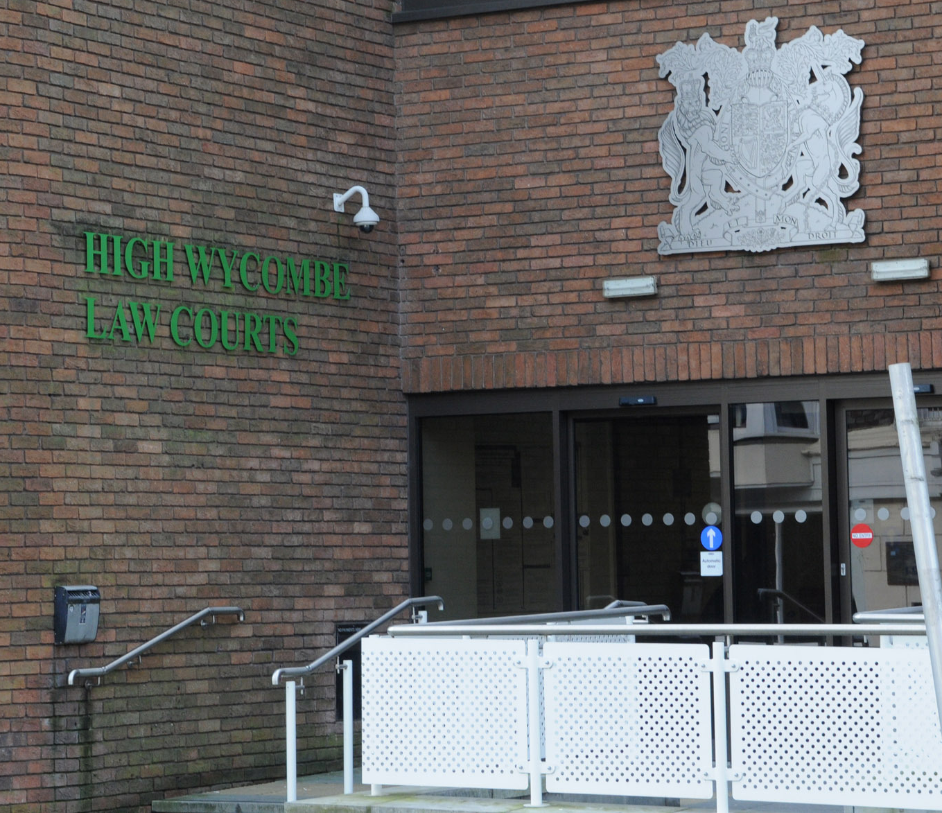 Front entrance of High Wycombe law courts, where AWE were fined £660,000