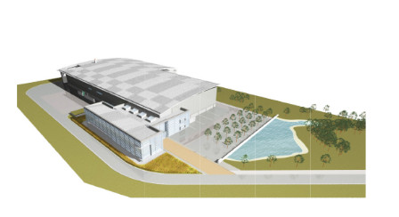 Drawing of Pegasus facility from original planning application.