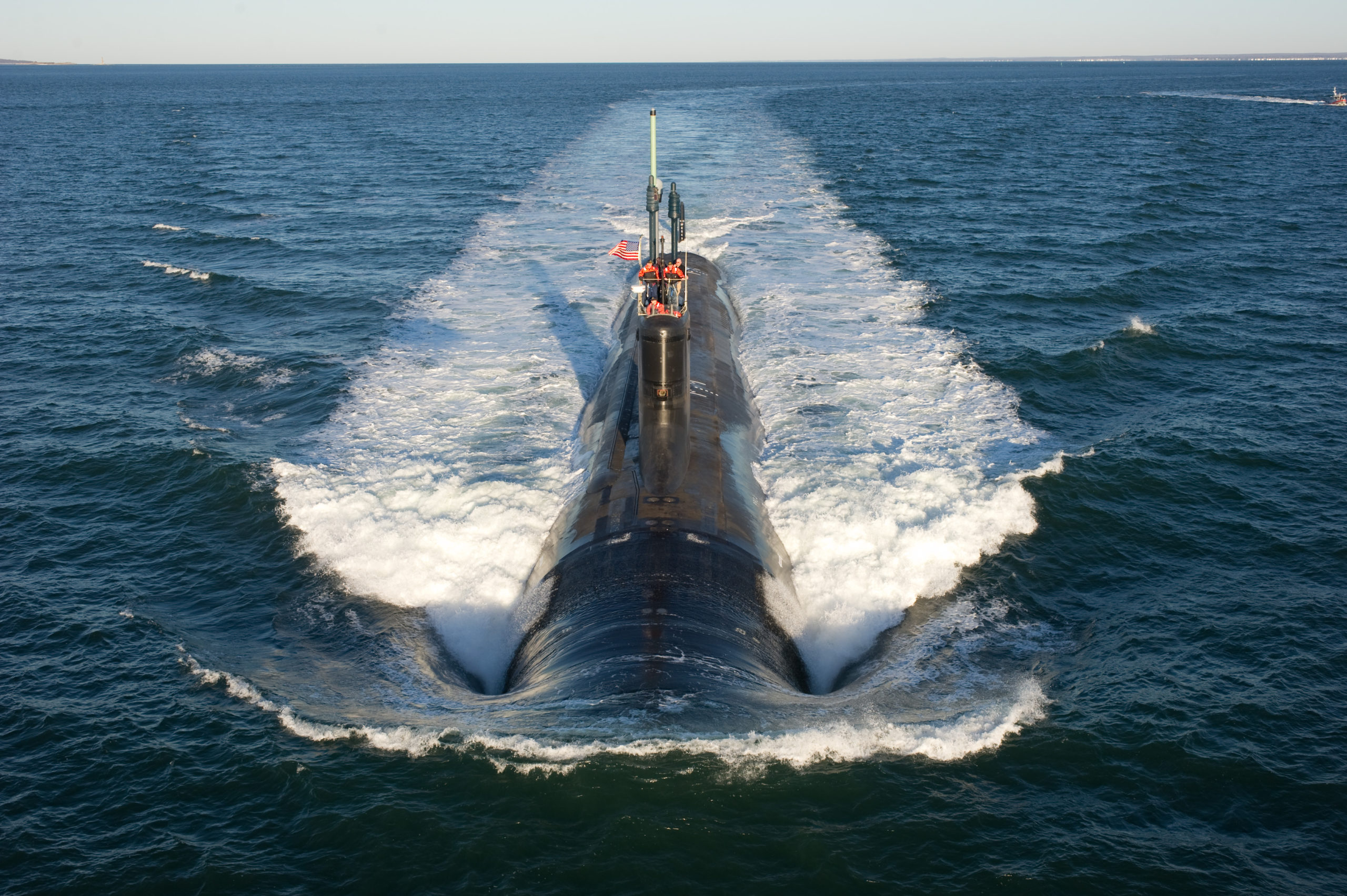 Virginia class submarine USS Mississippi conducting sea trials. The Virginia class is one option for the new Asutralian submarines. Photo: US Navy